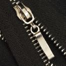 Молния металлическая разъёмная 3Т, 45см, слайдер палочка, зубцы никель, цвет 322-чёрный