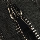 Молния металлическая разъёмная 3Т, 45см, шлифованная, слайдер G40, зубцы оксид, цвет 322-чёрный