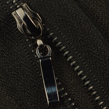 Молния металлическая неразъёмная 3Т, 50см, слайдер палочка 13149, зубцы оксид, цвет 322-чёрный