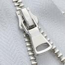 Молния разъемная металлическая 3Т, шлифованная 55см, слайдер G40, зубцы никель, цвет 101-белый