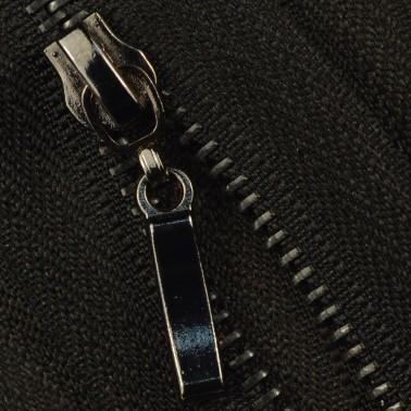 Молния металлическая разъемная 3Т, 55см, слайдер палочка, зубцы оксид, цвет 322-чёрный