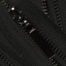 Молния металлическая разъёмная 3Т, 60см, слайдер палочка 13150, зубцы оксид, цвет 322-чёрный