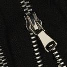 Молния металлическая разъёмная 3Т, 90см, шлифованная, слайдер G40, зубцы никель, 2 слайдера, цвет 322-чёрный
