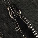 Молния металлическая разъёмная 3Т, 90см, шлифованная, слайдер G40, зубцы оксид, 2 слайдера, цвет 322-чёрный