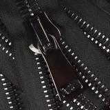 Молния металлическая неразъемная 38Т,шлифованная18см, слайдер G41, зубцы оксид, цвет 322-черный