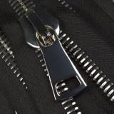 Молния металлическая разъемная 38Т,шлифованная 70см, слайдер G41, зубцы никель, цвет 322-черный