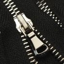 Молния металлическая разъемная 5Т, 100см, слайдер G30, 2 слайдера, зубцы никель, цвет черный