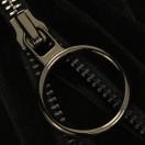 Молния металлическая неразъемная 5Т, 18см, слайдер кольцо- 5180, зубцы оксид, шлифованная, цвет 322 черный бархат