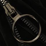 Молния металл неразъемная 5Т, 18см, слайдер кольцо- 5180, зубцы оксид, шлифованная, цвет 322 черный бархат