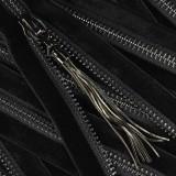 Молния металл неразъемная 5Т, 35см, слайдер 61639, зубцы оксид, шлифованная, цвет 322 черный бархат