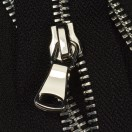 Молния металлическая разъемная 5Т, 35см, шлифованная, слайдер G40, зубцы никель, цвет 322-черный