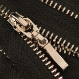 Молния металл неразъемная 5Т, 50см, слайдер 13149, зубцы никель, цвет 322-черный