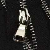Молния металлическая разъемная 5Т, шлифованная 50см, слайдер G40, зубцы никель, цвет 322-черный
