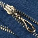 Молния металлическая разъемная 5Т, 55см, слайдер кривая капля, зубцы никель цвет 225-темно-синий