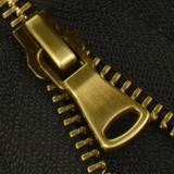 Молния металлическая разъемная 5Т, шлифованная 55см, слайдер G40, зубцы антик, цвет 322-черный
