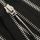 Молния металлическая разъемная 5Т, 55см, слайдер палочка длинная-5070, зубцы никель, шлифованная, цвет черный