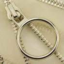Молния металлическая неразъемная 5Т, 55см, слайдер кольцо-5180 зубцы никель, шлифованная, цвет прозрачный