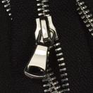 Молния металлическая разъемная 5Т, шлифованная 60см, слайдер G40, зубцы никель, цвет 322-черный