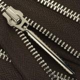 Молния металлическая разъемная 5Т, 70см, слайдер палочка длинная-5070, зубцы никель, шлифованная, цвет 1113Y