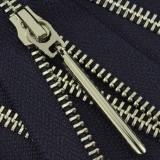 Молния металлическая разъемная 5Т, 70см, слайдер палочка длинная-5070, зубцы никель, шлифованная, цвет 2248Y