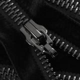 Молния металлическая разъемная 5Т, 70см, без пуллера, зубцы оксид, цвет 322-черный бархат