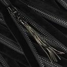 Молния металл разъемная 5Т, 70см, слайдер 61639, зубцы оксид, шлифованная, цвет 322 черный бархат
