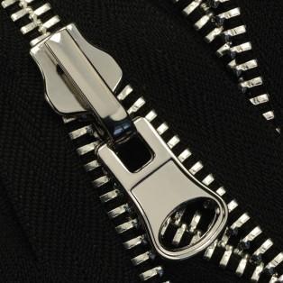 Молния реверсивная металлическая разъёмная 8Т, 70см, слайдер-300Н, зубцы никель, цвет 322-черный