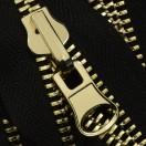 Молния реверсивная металлическая разъёмная 8Т, 70см, слайдер-300Н, зубцы золото, цвет 322-черный