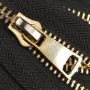Молния металлическая разъёмная 8Т, 90см, 2 слайдера,слайдер G41, зубцы светлое золото, цвет 322-чёрный