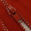 Молния тракторная неразъемная, 16см, тип 5, слайдер-050, цвет 519-красный