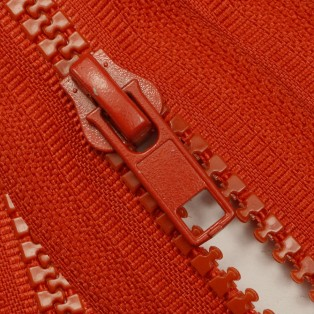 Молния тракторная разъемная, 80см, тип 5, слайдер-050, цвет 148-красный