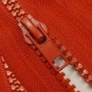 Молния тракторная разъемная, 90см, тип 5, слайдер-050, 2 слайдера, цвет 148-красный