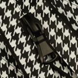 Молния витая неразъёмная водонепроницаемая Т5, 18см, слайдер G30, цвет черный+белый матовый