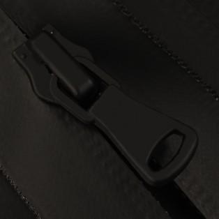 Молния витая неразъёмная водонепроницаемая Т5, 20см, слайдер G40, цвет 322-черный матовый