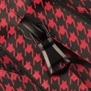 Молния витая разъёмная водонепроницаемая Т5, 70см, слайдер G30, цвет черный+красный матовый
