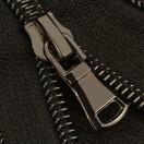 Молния витая разъёмная T7, 80см, слайдер G30, 2 cлайдер, зубцы оксид с черной ниткой, цвет 322-черный