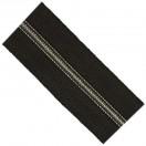 Молния рулонная витая пластик 3Т, зубцы никель с черной ниткой, цвет 322-черный