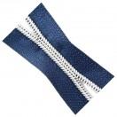 Молния рулонная витая пластик 5Т, зубцы серебро, цвет 330-синий, (рул=100м)